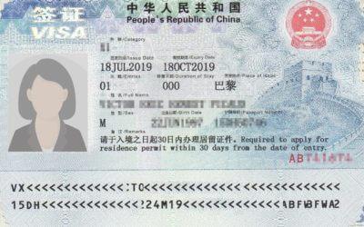 L'obligation de déposer les empreintes digitales pour tous types de demandes de visa Chinois