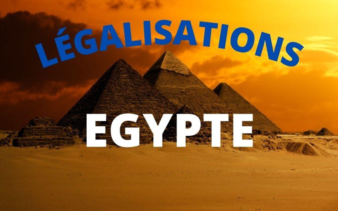 Légalisation des documents pour l'Egypte