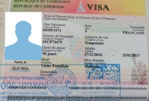 exemple visa cameroun